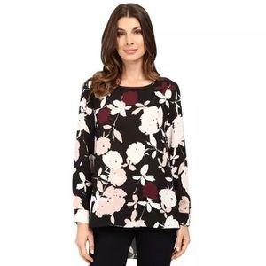 VINCE CAMUTO • hi-low floral blouse